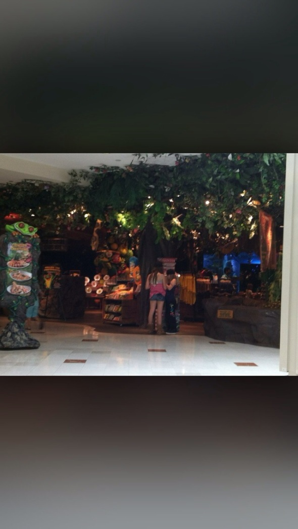 Menlo Park Mall Rainforest Cafe Menu