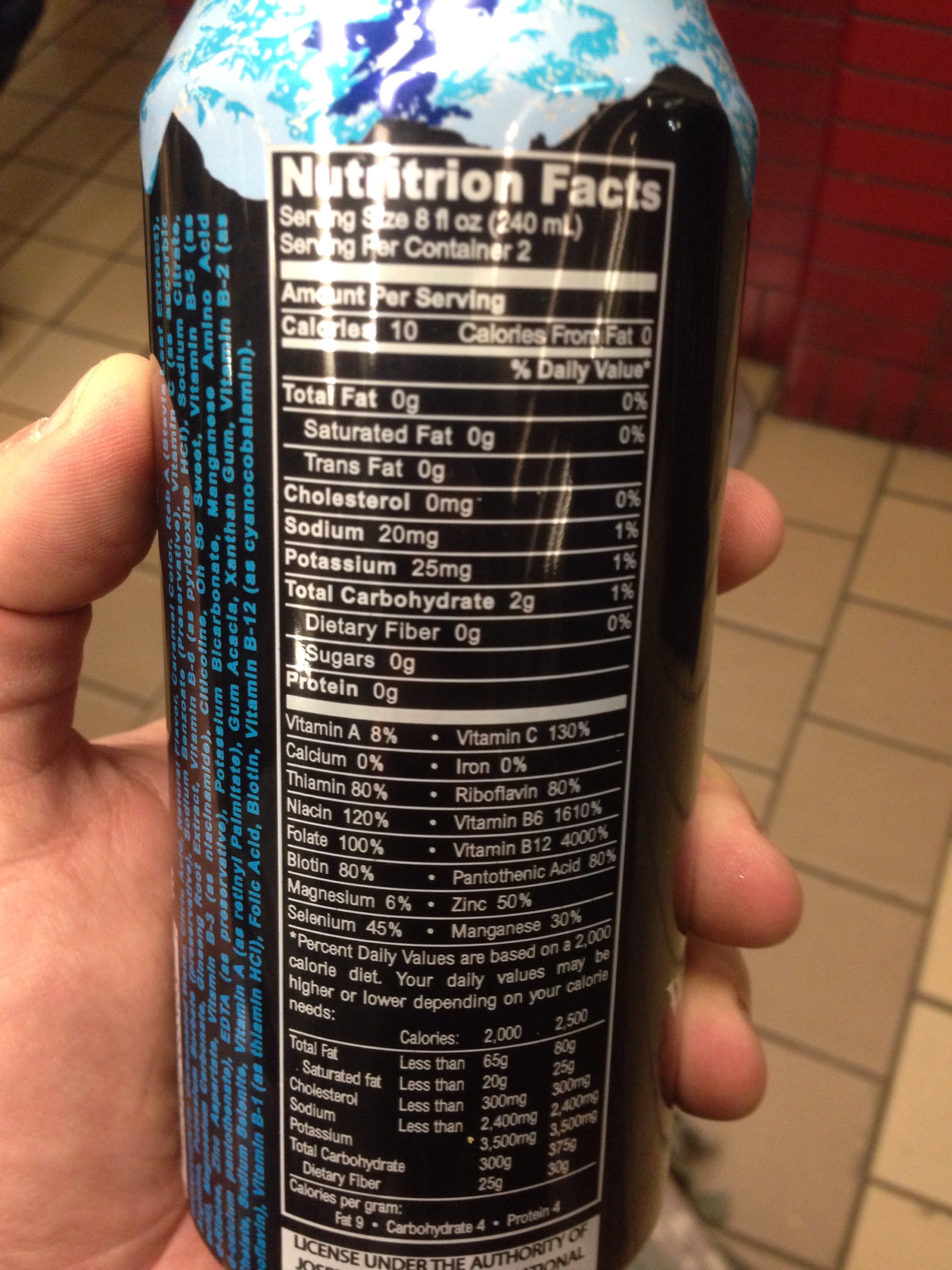 Amp Nutrition Label Amp Energy Drink Nutrition Img