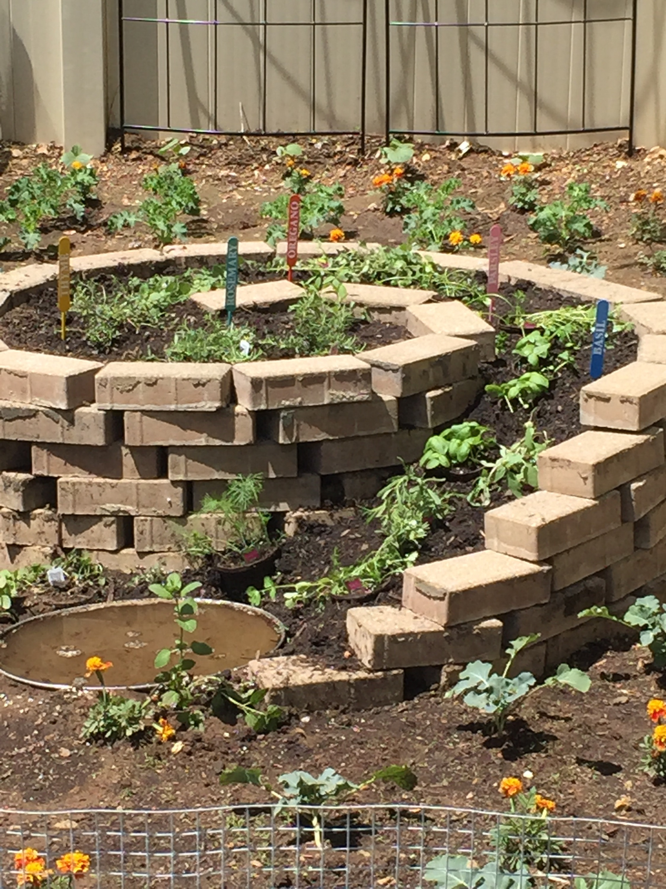 Herb spiral louisjbianco for Garden pool doomsday preppers